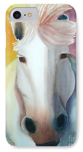 White Work Horse IPhone Case