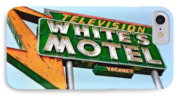 White's Motel IPhone Case by Matthew Bamberg