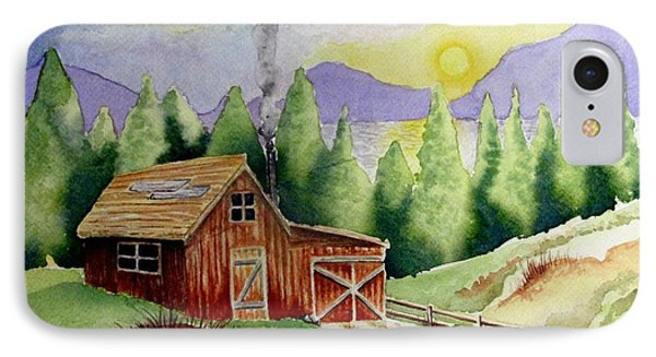 Wilderness Cabin IPhone Case by Jimmy Smith