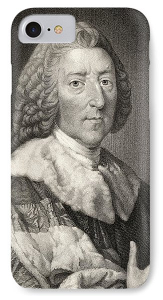 William Pitt The Elder 1st. Earl Of IPhone Case by Vintage Design Pics