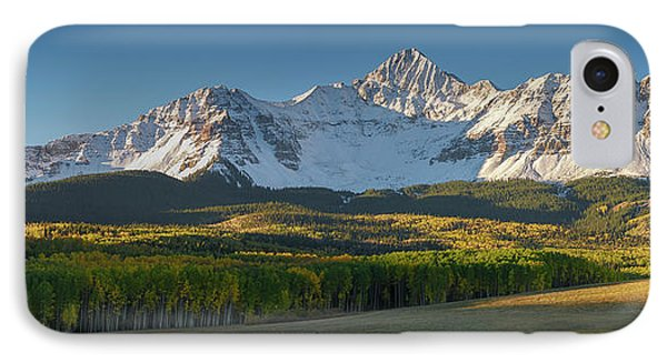 IPhone 7 Case featuring the photograph Wilson Peak Panorama by Aaron Spong