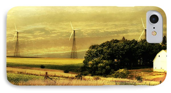 Wind Turbines IPhone Case by Julie Hamilton