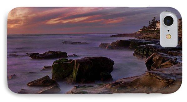 IPhone Case featuring the photograph Windansea Beach At Dusk by Eddie Yerkish