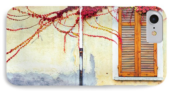 IPhone Case featuring the photograph Window And Red Vine by Silvia Ganora