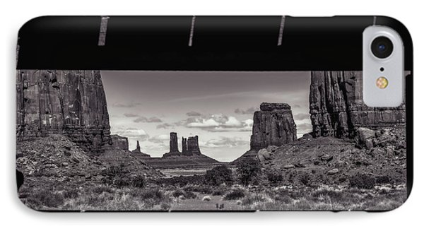 IPhone Case featuring the photograph Window Into Monument Valley by Eduard Moldoveanu