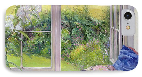 Window Seat And Lily IPhone Case by Timothy Easton