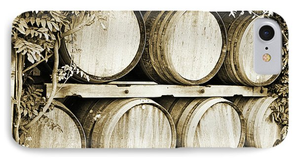 Wine Barrels IPhone Case by Scott Pellegrin
