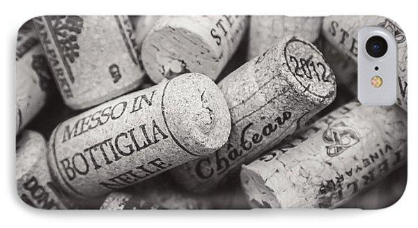 Wine Corks Black And White IPhone Case by April Reppucci