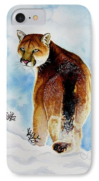 Winter Cougar IPhone Case by Jimmy Smith
