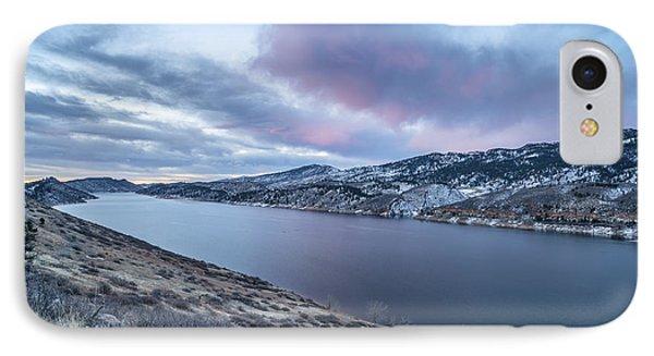 Winter Dawn Over Mountain Lake IPhone Case by Marek Uliasz