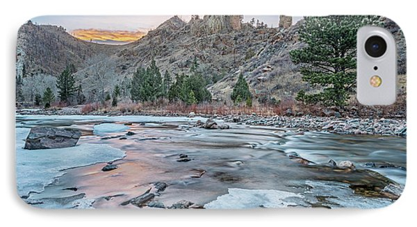 winter dusk over Poudre Canyon IPhone Case