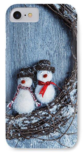 Winter Garland IPhone Case by Amanda Elwell