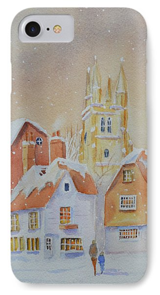 IPhone Case featuring the painting Winter In Tenterden by Beatrice Cloake