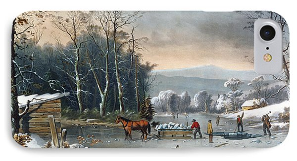 Winter In The Country IPhone Case by George Durrie