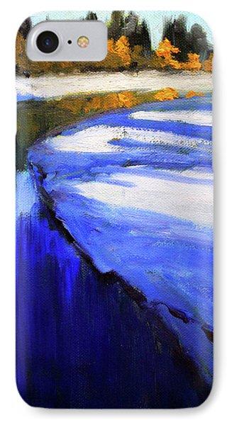 Winter River IPhone Case by Nancy Merkle
