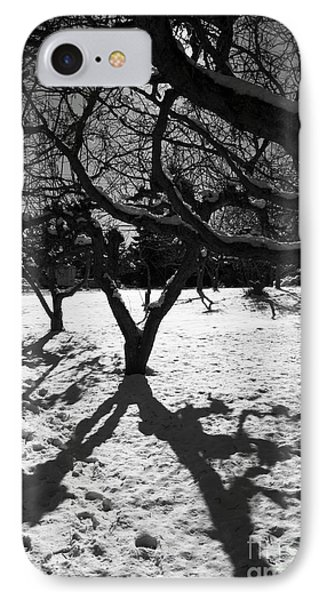 IPhone Case featuring the photograph Winter Shadows by Yulia Kazansky