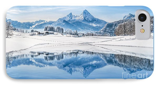 Winter Wonderland In The Alps IPhone Case by JR Photography