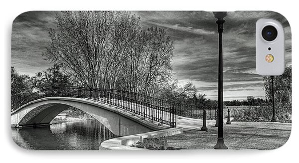IPhone Case featuring the photograph Winter's Bridge by Rodney Campbell