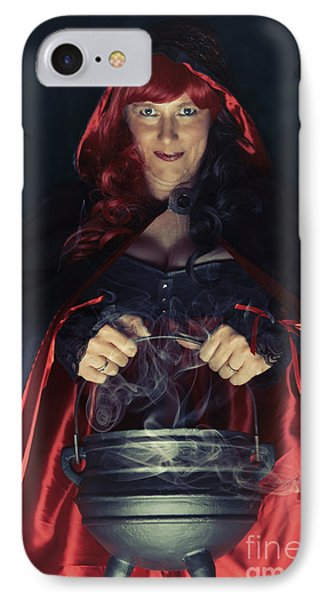 Witch And Her Cauldron IPhone Case by Amanda Elwell