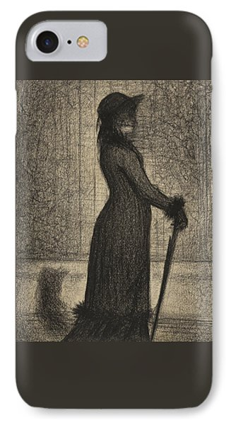 Woman Strolling IPhone Case by Georges Pierre Seurat