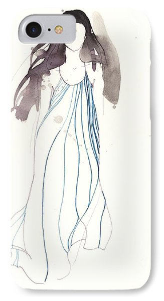 Woman With Dress From Chloe IPhone Case by Toril Baekmark