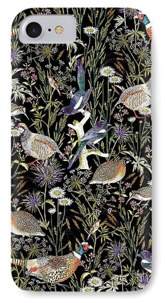 Woodland Edge Birds IPhone Case by Jacqueline Colley