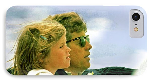 Yachting With John F. Kennedy And Caroline, Cape Cod, Ma IPhone Case