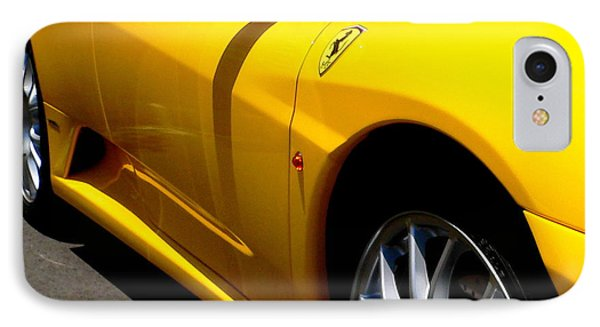Yellow Ferrari IPhone Case by Jeff Lowe