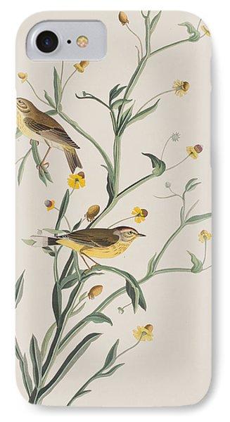 Yellow Red-poll Warbler IPhone 7 Case by John James Audubon