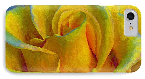 Yellow Rose IPhone Case by John  Kolenberg