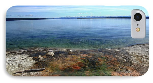 IPhone Case featuring the photograph Yellowstone Lake Colors by Frank Romeo