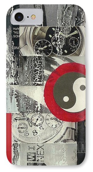IPhone Case featuring the mixed media Ying Yang by Desiree Paquette