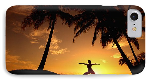 Yoga At Sunset Phone Case by Ron Dahlquist - Printscapes