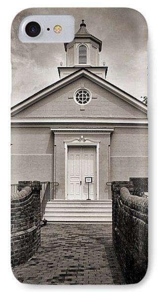 York-hampton Parish Church - Toned Bw W Border IPhone Case