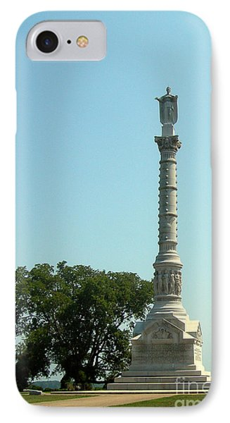 York Town Victory Monument IPhone Case by Skip Willits