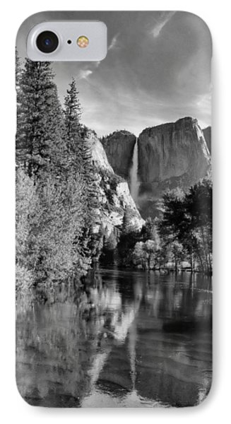IPhone Case featuring the photograph Yosemite Falls Spring Reflections by Stephen  Vecchiotti