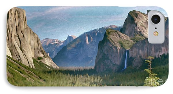 Yosemite Falls IPhone Case by Walter Colvin