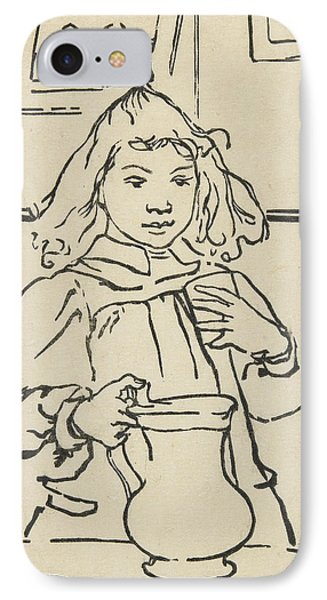 Young Girl With A Pitcher IPhone Case by Auguste Lepere