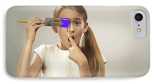Young Girl With Paintbrush IPhone Case