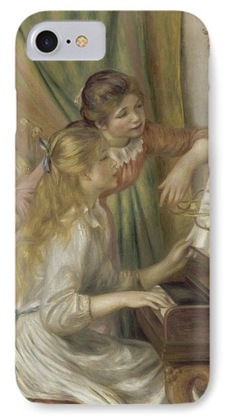 Young Girls At The Piano IPhone Case by Auguste Renoir