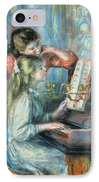 Young Girls At The Piano Phone Case by Pierre Auguste Renoir