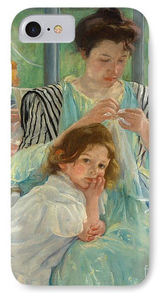 Young Mother Sewing IPhone Case by Mary Stevenson Cassatt