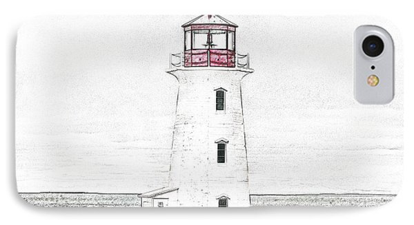 You're My Beacon Peggy's Cove Lighthouse IPhone Case by Betsy Knapp