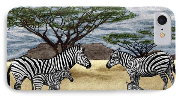 Zebra African Outback  IPhone Case by Peter Piatt