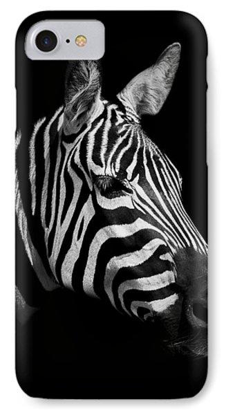 Zebra IPhone 7 Case by Paul Neville