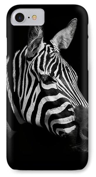Zebra IPhone Case by Paul Neville