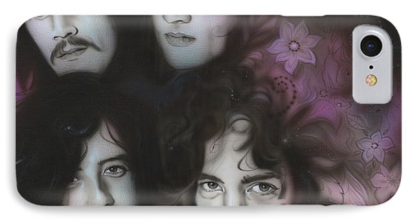 Led Zeppelin - ' Zeppelin ' IPhone Case by Christian Chapman Art