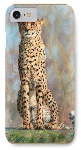Cheetah IPhone Case by David Stribbling
