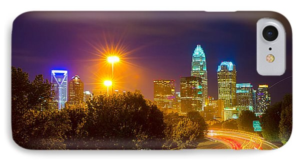 Downtown Of Charlotte  North Carolina Skyline Phone Case by Alex Grichenko