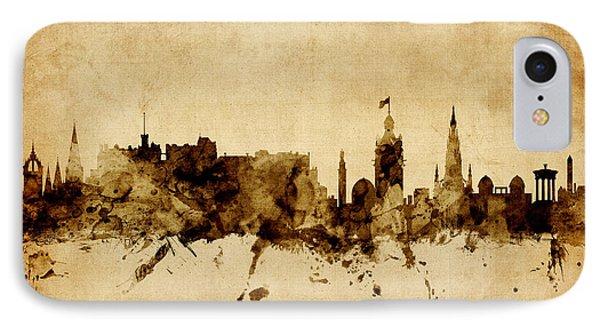 Edinburgh Scotland Skyline IPhone Case
